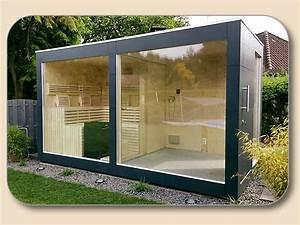 Gartenhaus Mit Glasfront : gartensauna modern aussensauna kaufen ~ Markanthonyermac.com Haus und Dekorationen