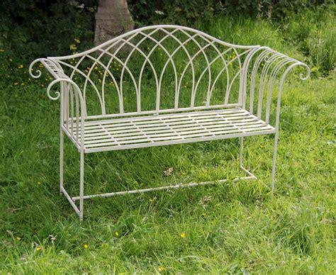 shabby chic garden bench shabby chic garden bench cream garden bench steel outdoor bench garden seat ebay