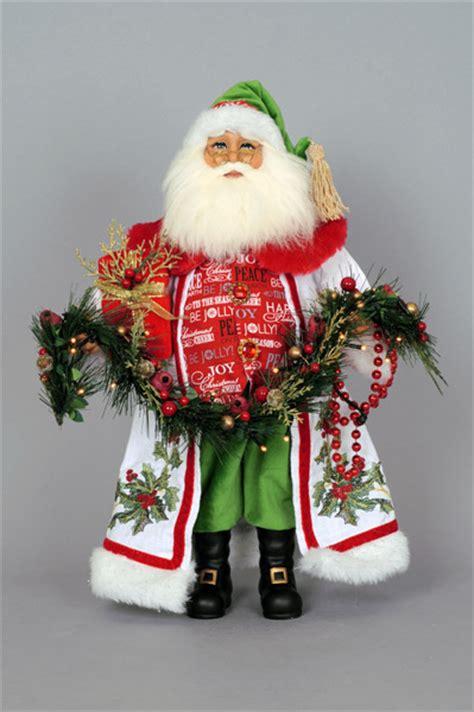 karen didion originals cc lighted holly sparkle santa