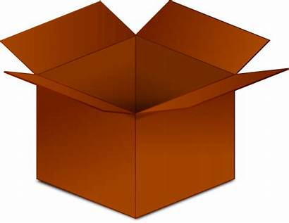 Box Clip Clipart Boxes Cardboard Open Cartoon