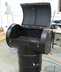 Fabriquer Un Barbecue Avec Un Bidon : fabriquer un fumoir avec 2 bidons de 200l backyard pinterest fumoir bidon et bricolage ~ Dallasstarsshop.com Idées de Décoration