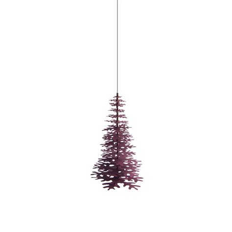 Minimalist Christmas Tree  Claret Red Paper Decoration