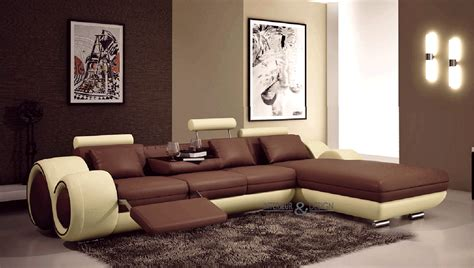 Brown Couch Living Room Color Schemes by Canap Angle En Cuir Vachette Blanc