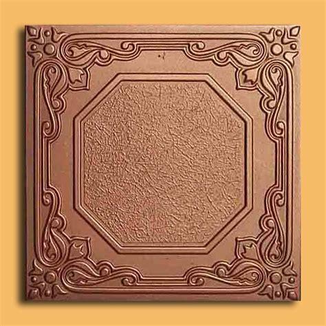 odessa copper foam glue up ceiling tiles antique