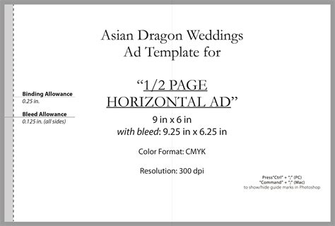 half page flyer template advertise asian magazine