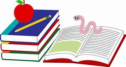 Books Clip Pencil Clipart Apple Bookworm Pencils