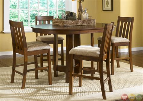 dining room vintage varnished wooden dining sets with