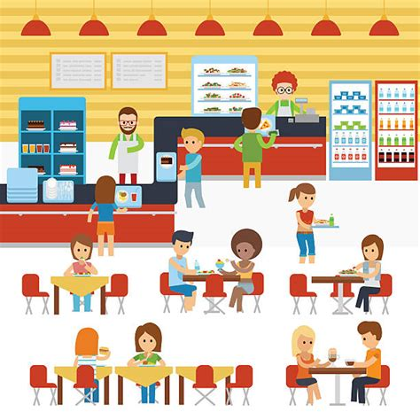 school canteen clipart black and white royalty free cafeteria clip vector images