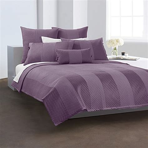 buy dkny harmony quilted standard sham in plum from bed