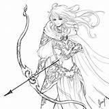 Archer Drawing Coloring Line Female Drawings Sketch Sterling Template Deviantart Getdrawings sketch template