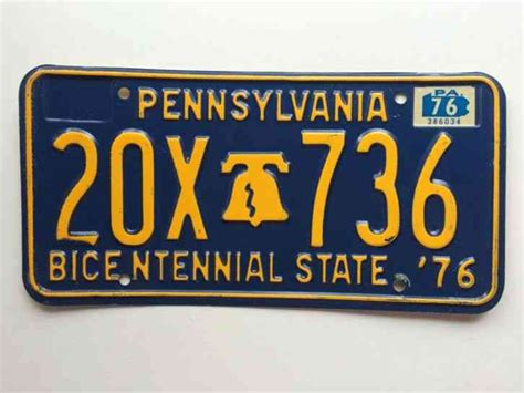 Pennsylvania 1976 License Plate Garage Old Car Auto Tag