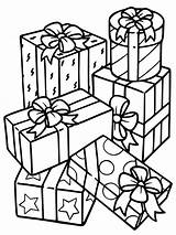 Coloring Presents Pages Christmas Pile sketch template