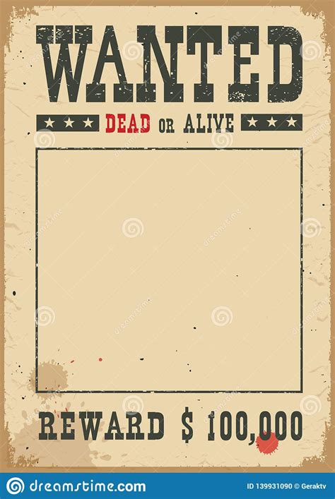 Wanted Poster.Vector Western Illustration On White Stock ...