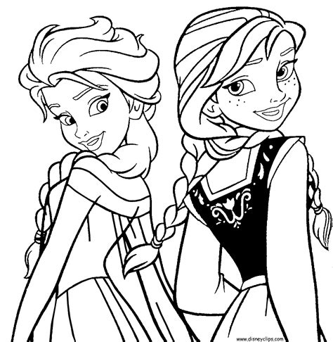 disney frozen characters coloring pages