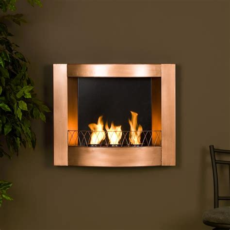 copper fireplaces sei copper wall mountable gel fuel fireplace