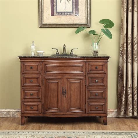 For you who have a narrow bathroom, this 48 inch. Shop Stufurhome Yorktown 48-inch Single Sink Vanity ...