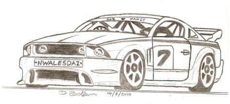 Sport Car Drawing By Darryl Redfern