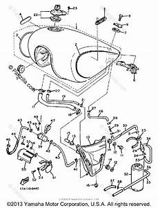 Yamaha Motorcycle 1988 Oem Parts Diagram For Fuel Tank  California Model Only