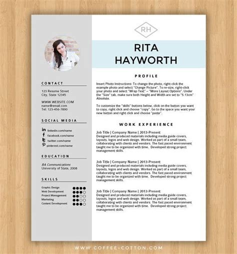 professional resume template cover letter cv
