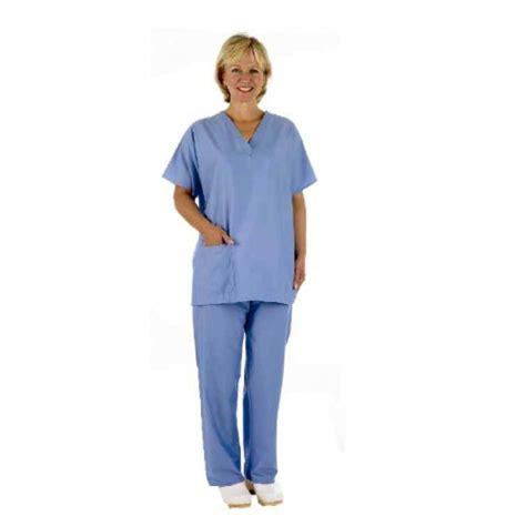 unisex medical scrubs set tunic trouser ceil pale