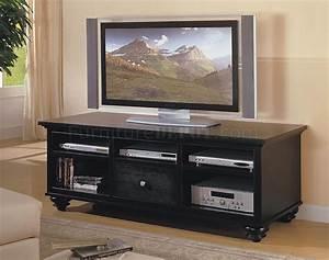 Table Tv But : black finish casual style tv stand w storages ~ Teatrodelosmanantiales.com Idées de Décoration