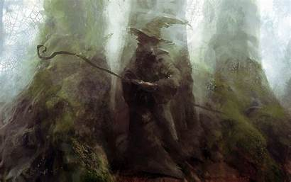 Wizard Gandalf Lord Rings Magic Painting Desktop