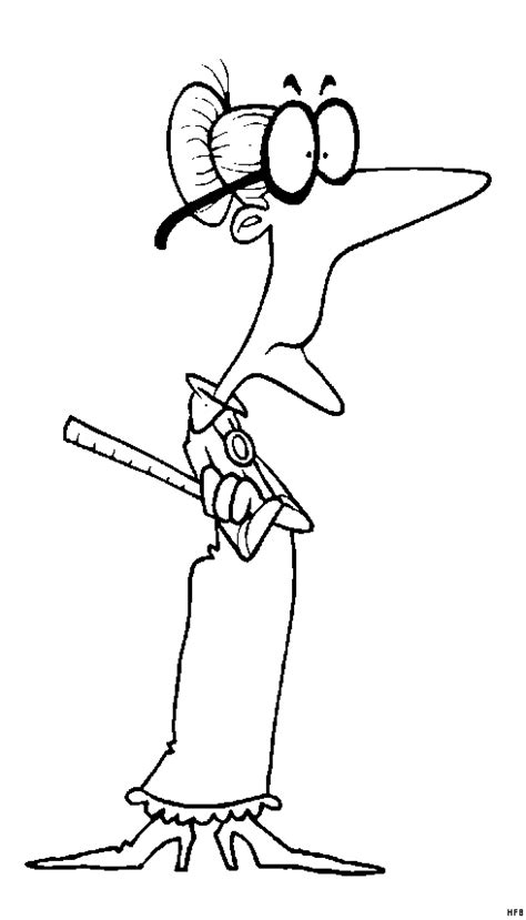 alte lehrerin mit lineal ausmalbild malvorlage comics