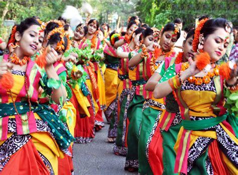 basant utsav shantiniketan west bengal india