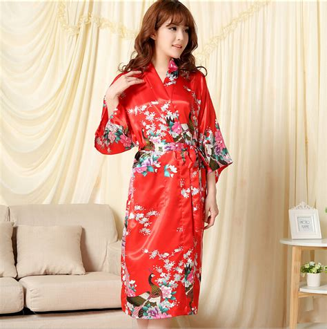 kimono robe de chambre shipping pajamas nightgown summer solid