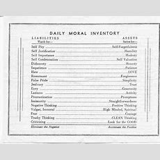 Origins Of Moral Inventory  Aa The Original Way Groupi Still Have One Of These In My Wallet