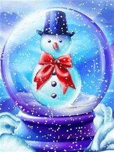 Animated Snowman In Crystal Ball Mobile Phone Wallpapers ...