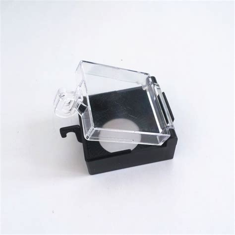 plastic emergency pushbutton switch black clear protector