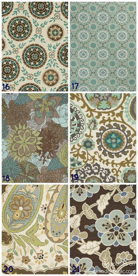 Modern Rugs La remodelaholic 20 green and blue area rugs you ll love