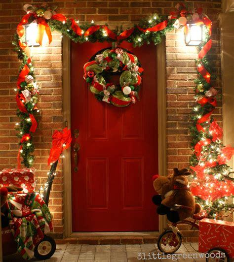 bright  cheery christmas porch