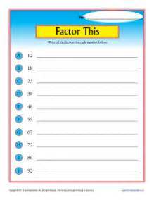 factor this 4th grade math worksheets