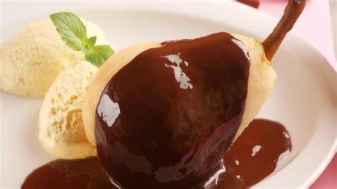 dessert aux poires et chocolat images