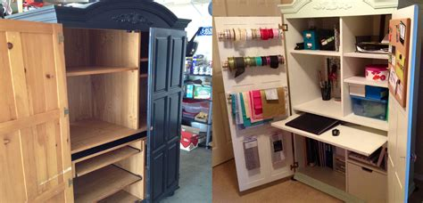 diy craft cabinet before after diy craft armoire for my home