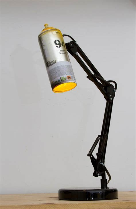 recycled spray cans  desk lamps id lights