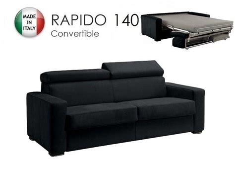 canapé système rapido canape systeme rapido sidney cuir eco noir matelas 14cm