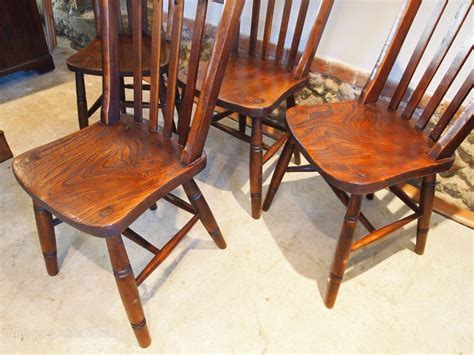 Chairs Edwardian Kitchen Windsor Beech And Elm   Antiques