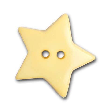 yellow star plastic novelty button britex fabrics