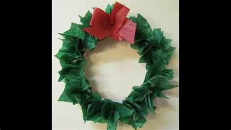 wreath paper plate tissue paper diy