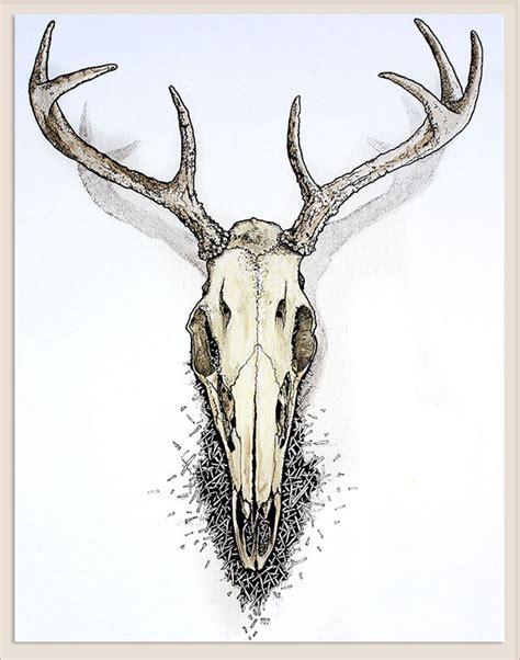 Deer Skulls Drawing Getdrawings Free For Personal