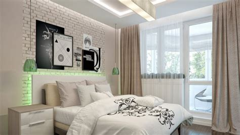Bedroom Picture Wall, Bedroom With Brick Wall Decorative