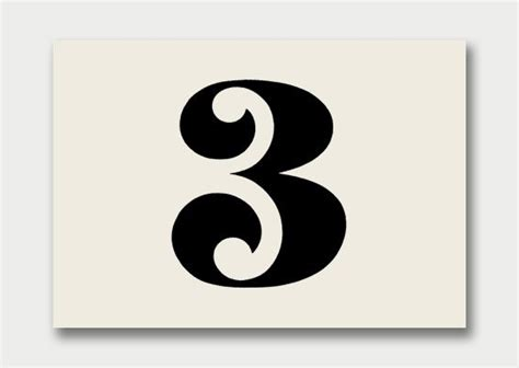 number 3 typography pinterest