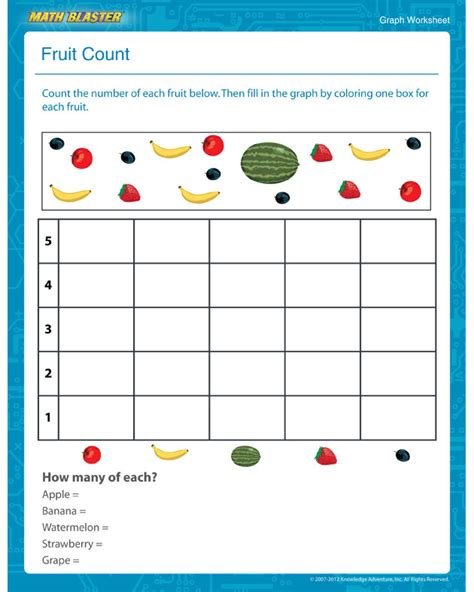 Kindergarten Math Graph Worksheets