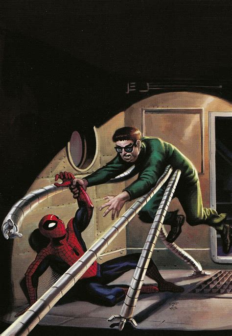Spider Man Vs Doctor Octopus Dr Otto Octavius Oil