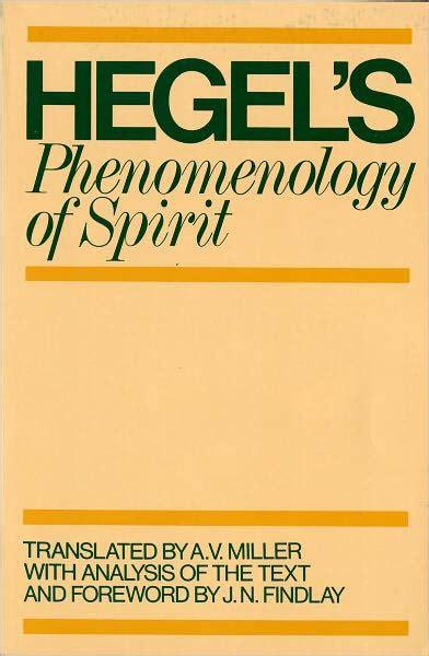 phenomenology  spirit edition      hegel