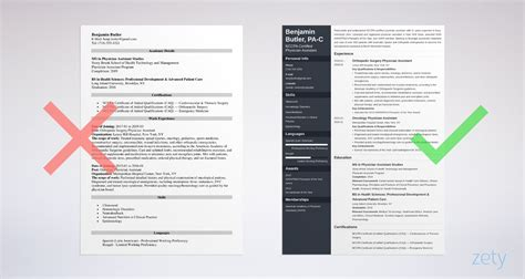 physician assistant resume examples complete guide