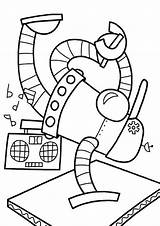 Robot Coloring Pages Easy Tulamama Dance sketch template